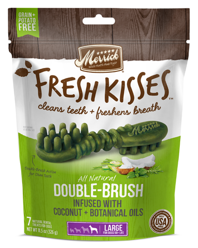 Picture of Merrick Fresh Kisses Grain Free Coconut Oil Infused with Botanicals for Large Dogs - 7 Ct.