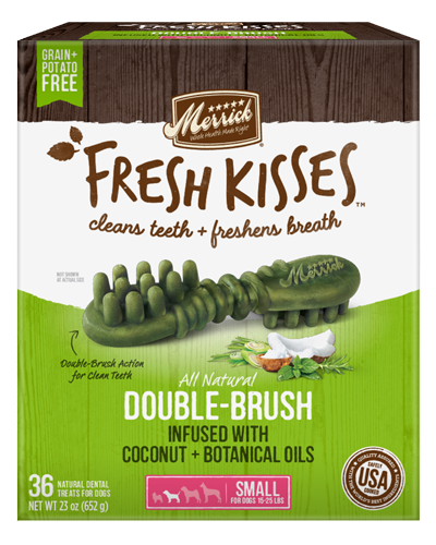 Picture of Merrick Fresh Kisses Grain Free Coconut Oil Infused with Botanicals for Small Dogs - 36 Ct.