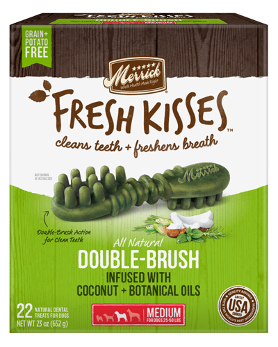 Picture of Merrick Fresh Kisses Grain Free Coconut Oil Infused with Botanicals for Medium Dogs - 22 Ct.