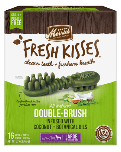 Picture of Merrick Fresh Kisses Grain Free Coconut Oil Infused with Botanicals for Large Dogs - 16 Ct.