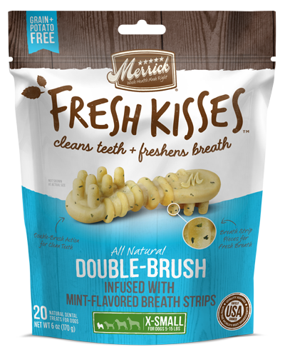 Picture of Merrick Fresh Kisses Grain Free Mint Breath Strips for Extra Small Dogs - 20 Ct.