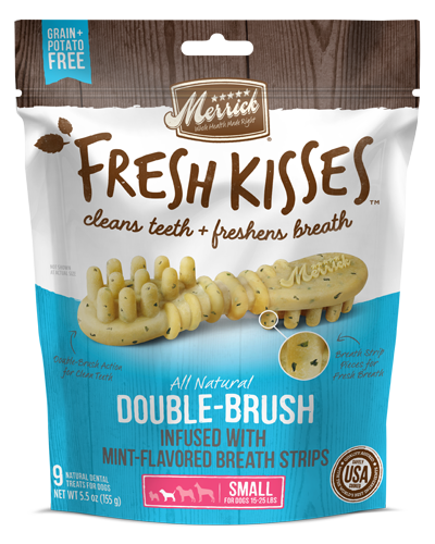 Picture of Merrick Fresh Kisses Grain Free Mint Breath Strips for Small Dogs - 9 Ct.