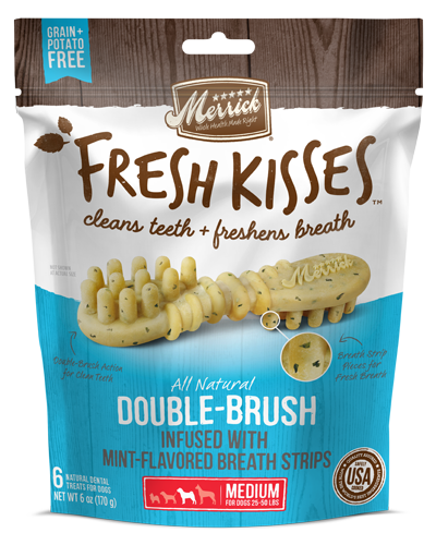 Picture of Merrick Fresh Kisses Grain Free Mint Breath Strips for Medium Dogs - 6 Ct.