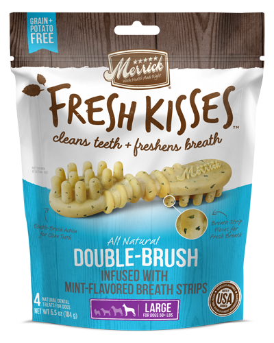 Picture of Merrick Fresh Kisses Grain Free Mint Breath Strips for Large Dogs - 4 Ct.