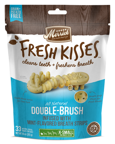 Picture of Merrick Fresh Kisses Grain Free Mint Breath Strips for Extra Small Dogs - 33 Ct.