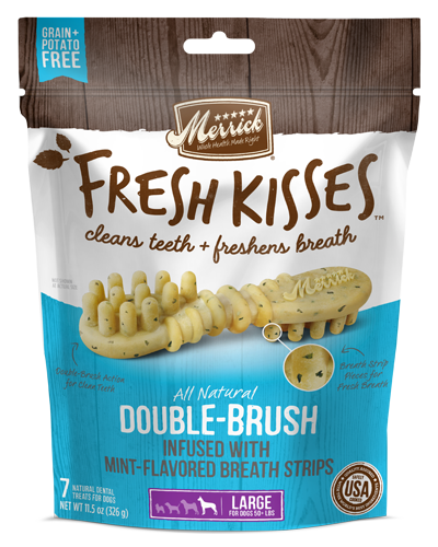 Picture of Merrick Fresh Kisses Grain Free Mint Breath Strips for Large Dogs - 7 Ct.