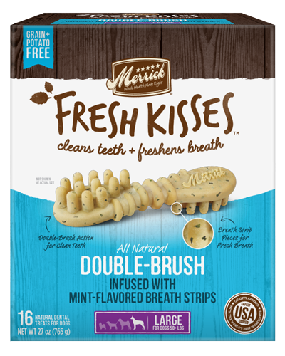 Picture of Merrick Fresh Kisses Grain Free Mint Breath Strips for Large Dogs - 16 Ct.