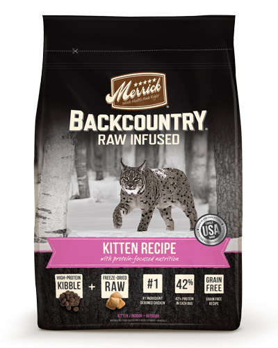 Picture of Merrick BackCountry Raw Infused Grain Free Kitten Recipe with Chicken - 6 lb.