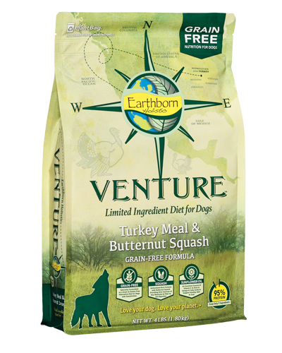 Picture of Earthborn Holistic Venture Grain Free Limited Ingredient Diet Turkey Meal and Butternut Squash Formula - 4 lb.