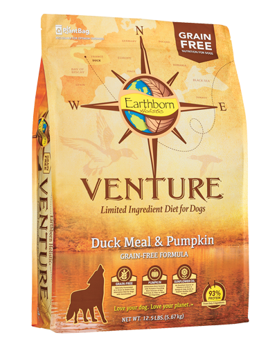 Picture of Earthborn Holistic Venture Grain Free Limited Ingredient Diet Duck Meal and Pumpkin Formula - 12.5 lb.