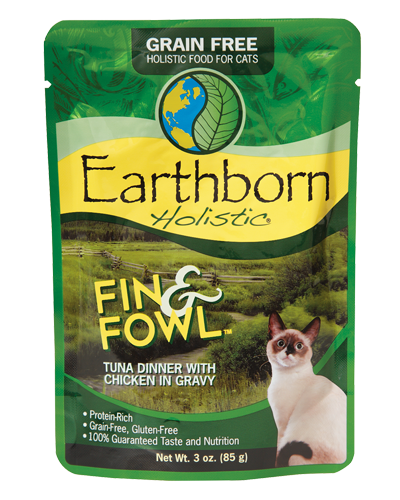 Picture of Earthborn Holistic Grain Free Fin and Fowl Tuna Dinner with Chicken in Gravy - 3 oz.