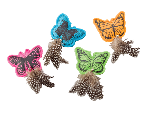 Picture of Ethical Spot Whiskins Felt Butterfly with Catnip - Assorted Colors