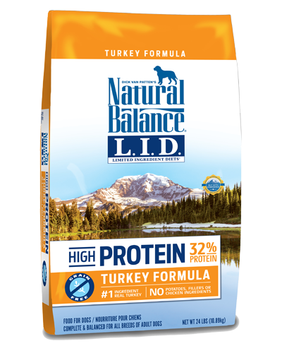 Picture of Natural Balance Limited Ingredient Diet High Protein Grain Free Turkey Formula - 24 lb.