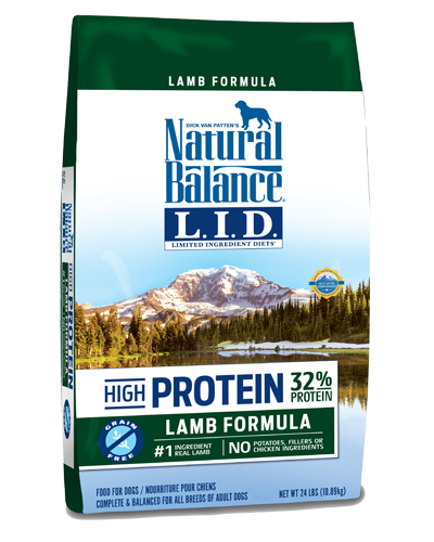 Picture of Natural Balance Limited Ingredient Diet High Protein Grain Free Lamb Formula - 24 lb.