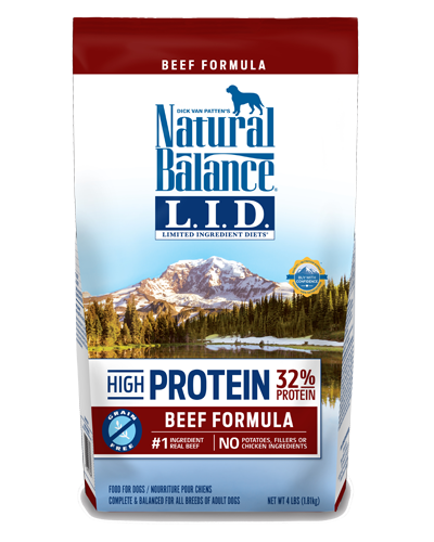 Picture of Natural Balance Limited Ingredient Diet High Protein Grain Free Beef Formula - 4 lb.