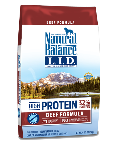 Picture of Natural Balance Limited Ingredient Diet High Protein Grain Free Beef Formula - 24 lb.
