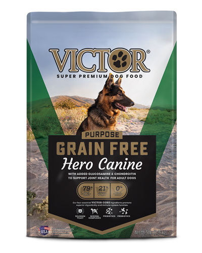 Picture of Victor Grain Free Hero Canine Formula with Glucosamine for Joint Support - 5 lbs.