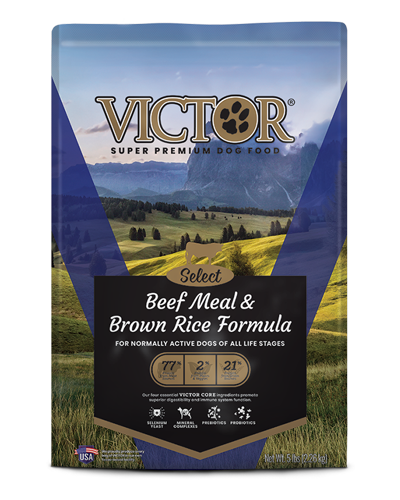 Picture of Victor Select Beef Meal & Brown Rice Formula - 5 lbs.