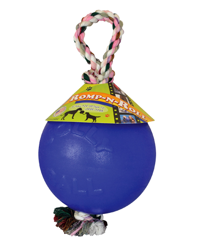 Picture of Jolly Pet Romp 'n' Roll Ball Blue - 8""