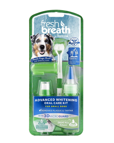 Picture of Tropiclean Fresh Breath Advanced Whitening Oral Care Kit For Small Dogs