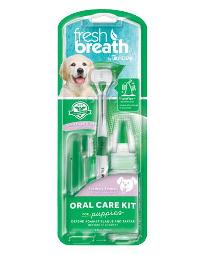 Picture of Tropiclean Fresh Breath Oral Care ToothBrush Kit for Puppies