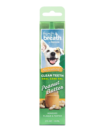 Picture of Tropiclean Fresh Breath Clean Teeth Gel with Peanut Butter Flavoring - 4 oz