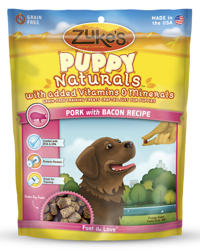 Picture of Zuke's Puppy Naturals Grain Free Pork & Chickpea Recipe Bites - 5 oz.