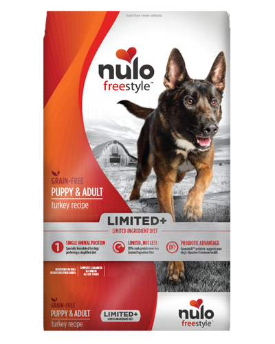 Picture of Nulo FreeStyle Limited+ Puppy and Adult Limited Ingredient Diet Grain Free Turkey Recipe - 22 lb.