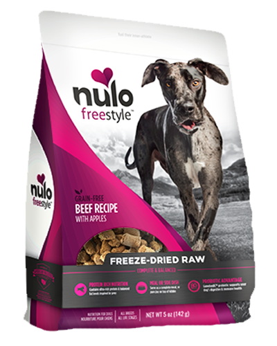 Picture of Nulo FreeStyle Freeze-Dried Raw Grain Free Beef Recipe with Apples - 5 oz.