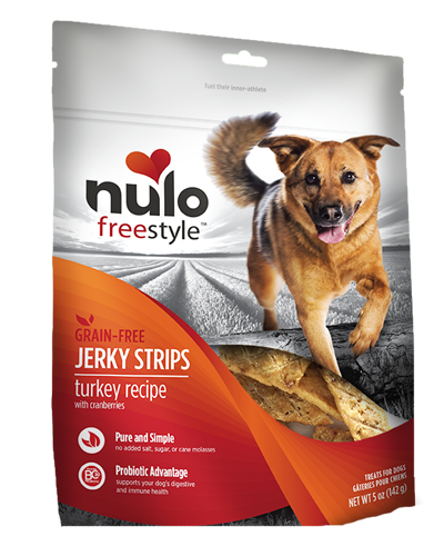 Picture of Nulo FreeStyle Grain Free Turkey Recipe with Cranberries Jerkey Strips - 5 oz.
