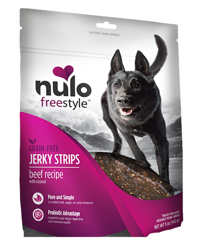 Picture of Nulo FreeStyle Grain Free Beef Recipe with Coconut Jerkey Strips - 5 oz.