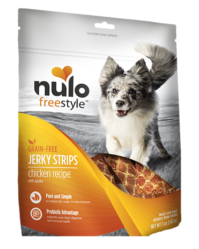 Picture of Nulo FreeStyle Grain Free Chicken Recipe with Apples Jerkey Strips - 5 oz.
