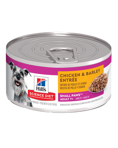 Picture of Hill's Science Diet Senior 7+ yrs Small & Toy Breed Chicken & Barley Entrée - 5.8 oz.