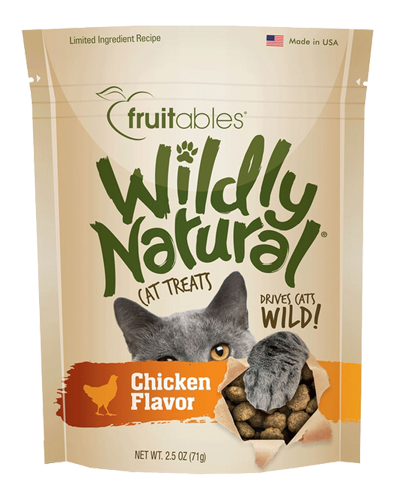 Picture of Fruitables Wildly Natural Chicken Flavor Cat Treats - 2.5 oz.