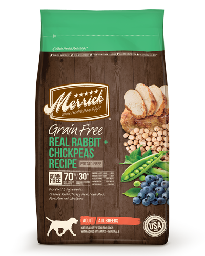 Picture of Merrick Grain Free Real Rabbit + Chickpeas Recipe - 4 lbs.