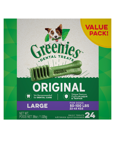 Picture of Greenies Original Large Dog Dental Treats - 36 oz.