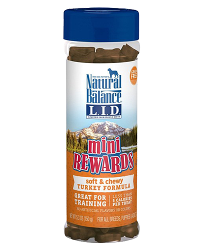 Picture of Natural Balance Limited Ingredient Diet Mini Rewards Grain Free Soft & Chewy Turkey Formula Treats - 5.3 oz.