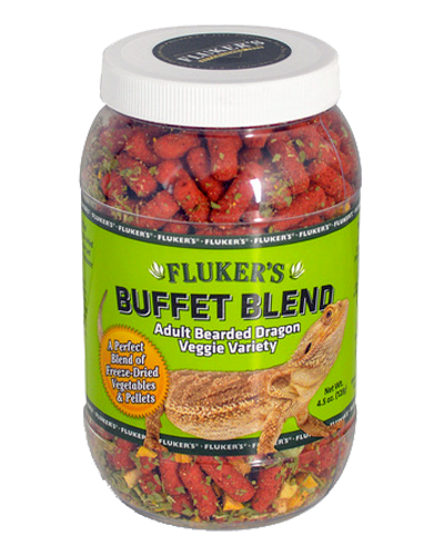 Picture of Fluker's Buffet Blend Veggie Variety for Adult Bearded Dragons - 4.5 oz.
