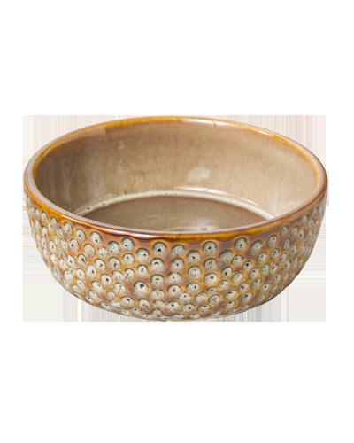 "Picture of Ethical Vesuvius Stoneware Dish 5"" - Brown"