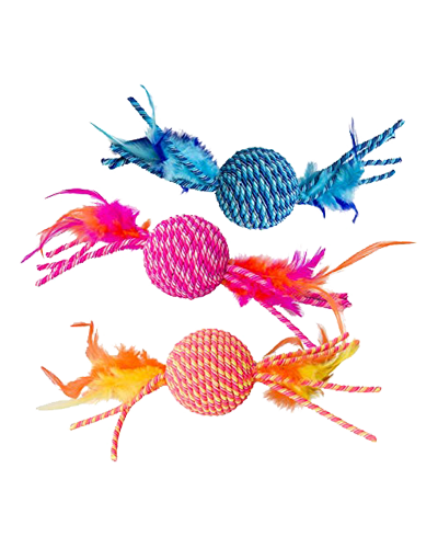 Picture of Ethical Elasteeez Ball with Feather - Assorted Colors