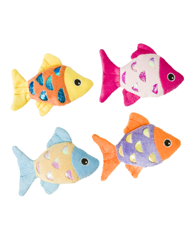 "Picture of Ethical Shimmer Glimmer Fish with Catnip Toy - 4.5"" Assorted Colors"