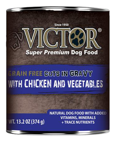 Picture of Victor Grain Free Cuts in Gravy with Chicken & Vegetables - 13.2 oz.