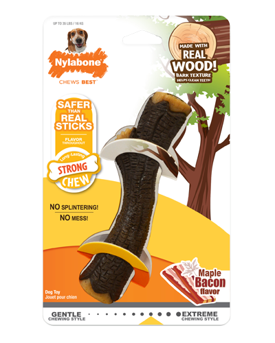 Picture of Nylabone Strong Chew Real Wood Stick with Maple Bacon Flavor