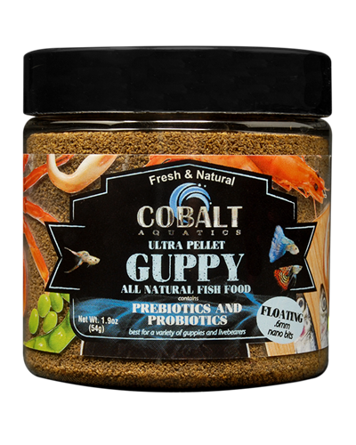 Picture of Cobalt Ultra Guppy Pellets - 1.9 oz.