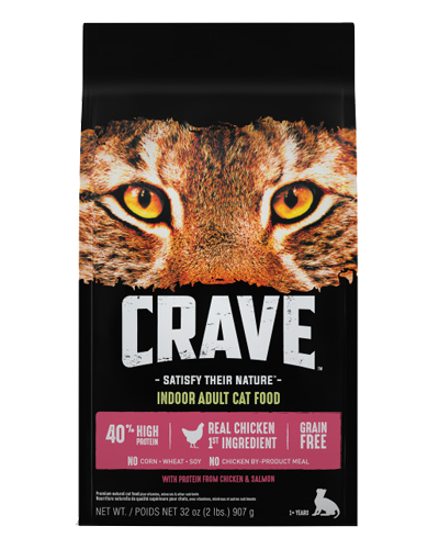 Picture of Crave Indoor Cat Grain Free Formula with Chicken and Salmon - 2 lb.