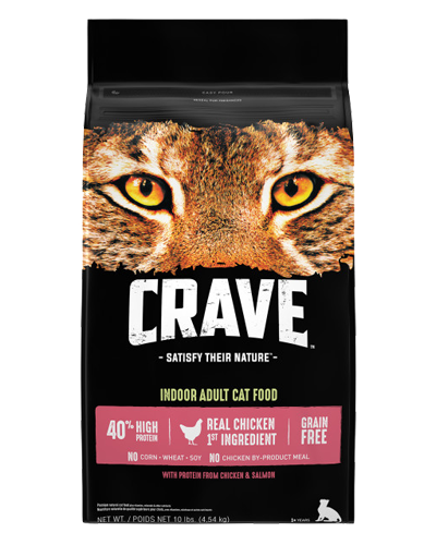 Picture of Crave Indoor Cat Grain Free Formula with Chicken and Salmon - 10 lb.