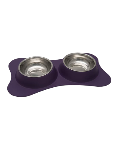 Picture of Loving Pets Dolce Bone Shaped Flex Diner Small - Plum