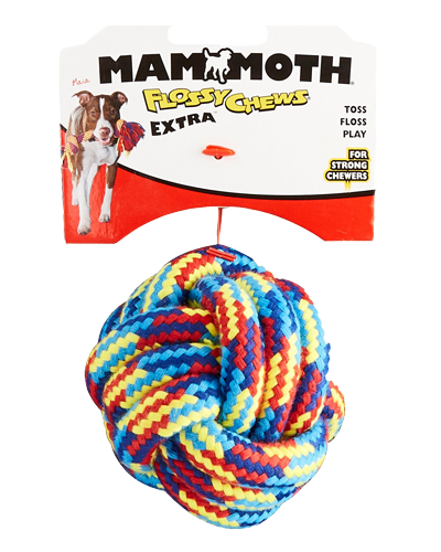Picture of Mammoth Pet Flossy Chew Medium EXTRA Monkey Fist Ball - 3.5""