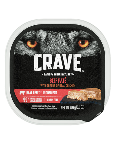 Picture of Crave Grain Free Beef Pate with Shreds of real Chicken - 3.5 oz.