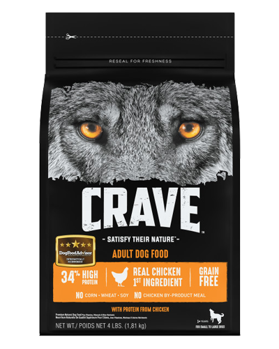 Picture of Crave Grain Free Formula with Chicken - 4 lb.